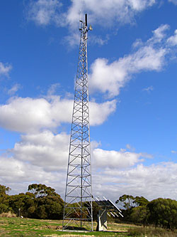 Internode solar powered WiMAX Wireless DSL tower