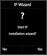 The Start IP installation wizard screen