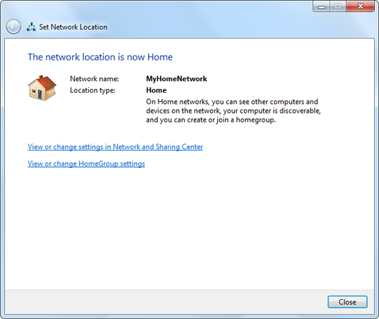 Windows 7: Completing a wireless network connection.