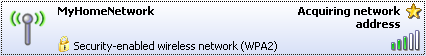 Windows XP: Acquiring a network address.
